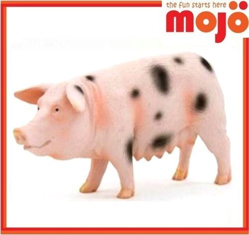 Mojo Fun 387092 Black Spotted Sow Pig - Realistic Farm / Ranch / Barnyard Animal Toy Replica