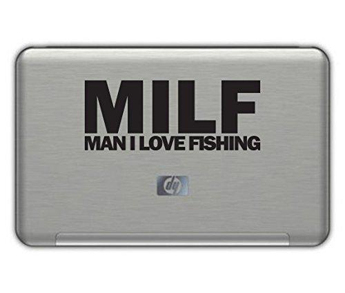 MAN I LOVE FISHING vinyl decal 2.5