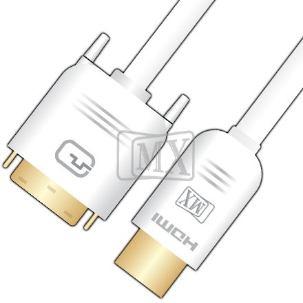 GATTS MX DVI-D DUAL LINK (24+1) PIN MALE TO HDMI MALE CABLE GOLD PLATED-7.5 M