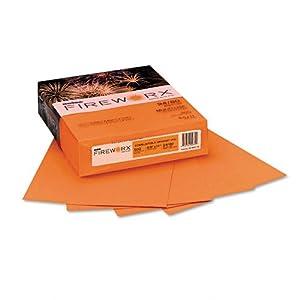 Boise Fireworx Color Copy/Laser Paper, 24 lb, Letter Size (8.5 x 11), Combustible Orange, 500 Sheets (MP2241-TE)
