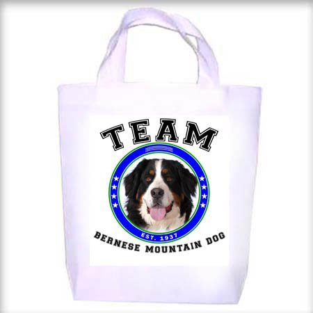 Bernese Mountain Dog TEAM Shopping - Dog Toy - Tote Bag