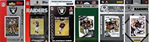 NFL Oakland Raiders Six Different Licensed Trading Card Team Sets by C&I Collectables