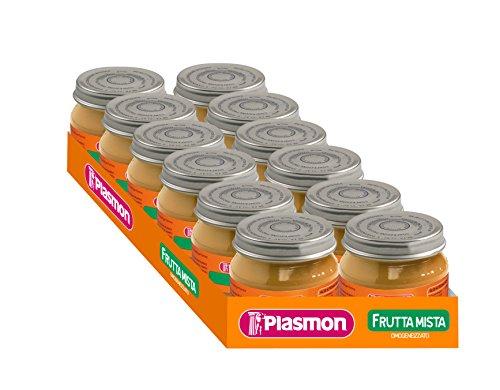 Plasmon Omogeneizzato di Frutta di 4 Frutti - 12 vasetti da 80 gr - Totale: 960 gr