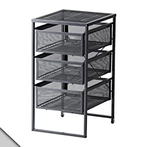 Ikea lennart drawer unit dark gray for Ikea metal cart with drawers