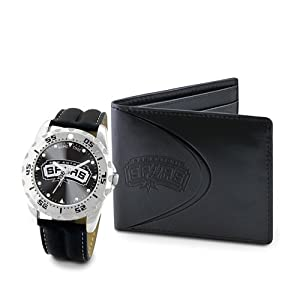 Mens NBA San Antonio Spurs Watch & Wallet Set by Jewelry Adviser Nba Watches