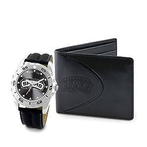 Mens NBA San Antonio Spurs Watch & Wallet Set by Jewelry Adviser Nba Watches