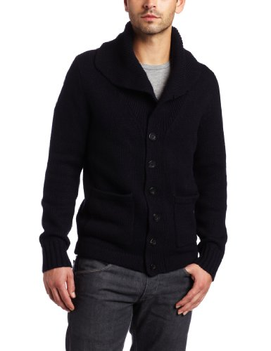 Earnest Sewn Mens Waxed Wool Barn Jacket, Black,
