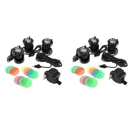 2X 3 Set 12 LED 110V Submersible Underwater Outdoor Garden Pool Light Fountain Pond Lamp + 4 Color Lens Kit
