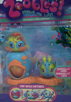 Zoobles Spring to Life Seagonia Collection: Rashelle #069 & Pasquelle #070 - 1
