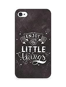 AMEZ enjoy the little things 2 Back Cover For Apple iPhone 4