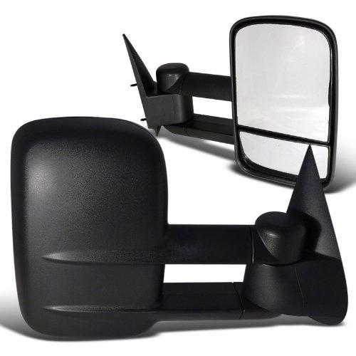 Chevy Chevrolet Silverado Tahoe Suburban Black Manual Towing Side Mirrors