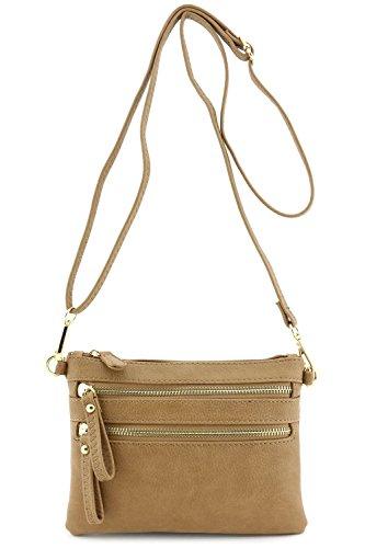 Multi-Zipper-Pocket-Small-Wristlet-Crossbody-Bag