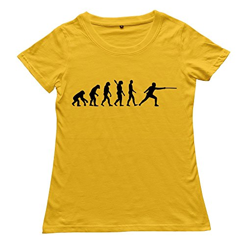 Hoxsin Yellow Women'S Fencing Fashion Casual T Shirts Us Size Xxl