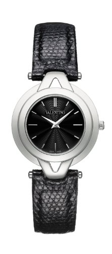 Valentino V-Valentino Women 's Quartz Watch with Black Dial Analogue Display and Black Strap V38SBQ9909S009