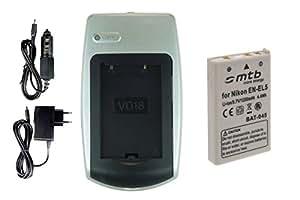 Chargeur + Batterie EN-EL5 pour Nikon Coolpix P3 P4 P80 P90 P100 P500 P510 P520 P5000 P5100 P6000...voir liste!