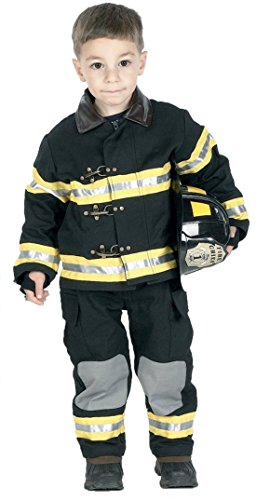 Boys Fire Fighter Blk Kids Child Fancy Dress Party Halloween Costume