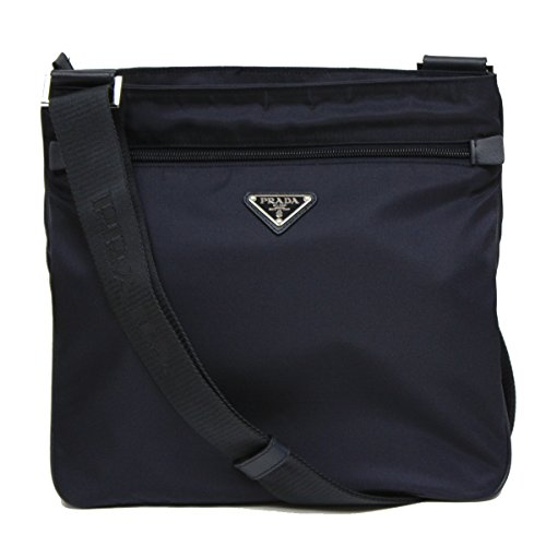 1ce85640dcbaf3 ... Messenger Travel Bag 2VH563. Sale! Prada-Navy-Blue-Tessuto-Nylon -Saffian-Leather-Crossbody-