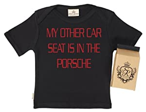 SR - Other Car Seat In Porsche Baby T-Shirt - 100% Bio-algodón - en caja de regalo