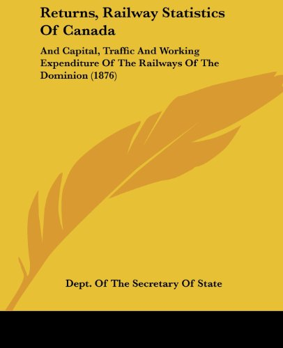 Returns, Railway Statistics of Canada: And Capital, Traffic and Working Expenditure of the Railways of the Dominion (1876)