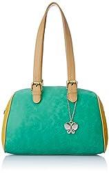 Butterflies Women's Handbag (Green) (BNS 0545GN)
