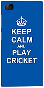 Snoogg Keep Calm And Play Cricket Case Cover For Xiaomi Mi 3