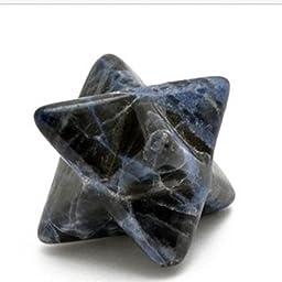 28.0 Cts. Merkaba Bead Kabbalah Blue Sodalite 17Mm
