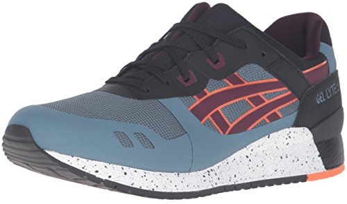 ASICS Men's Gel-Lyte Iii NS Fashion Sneaker, Blue Mirage/Rioja Red, 14 M US