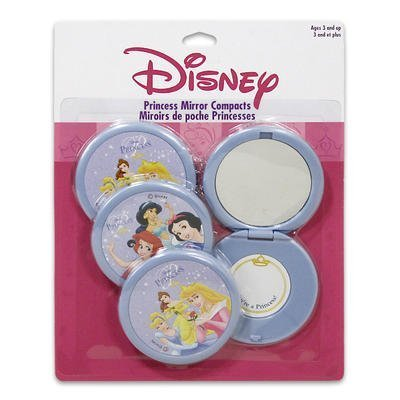 Pack of 4 Disney Princess Mirror Compacts Make up Mirrors - 1