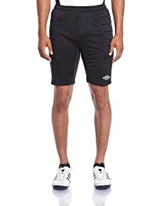 Umbro GK Padded - Pantalones cortos, color negro, talla M