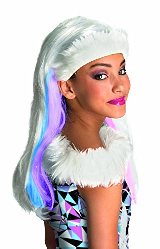 Baoer Monster High Abbey Bominable Child`s Wig One Size White / Pink / Sky Blue