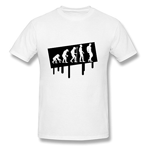 Graffiti Evolution Bodybuilding Printed 100% Cotton T Shirt For Guy'S front-394376
