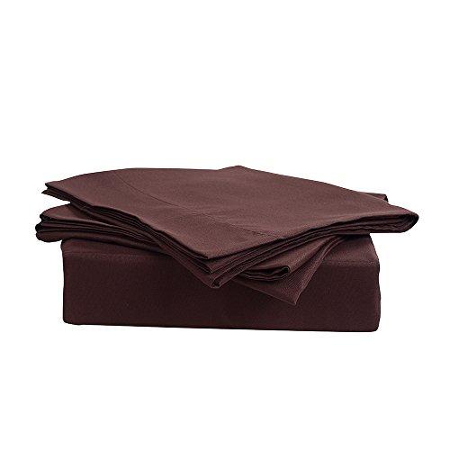 Honeymoon-Solid-3PC-Microfiber-Bed-Sheet-Set-1800T-Bedding-Set-Twin-Size-Sheet-Set-Chocolate