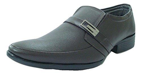 TROY Men's Brown Formal Slip On Shoes