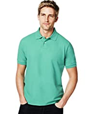 Blue Harbour Pure Cotton Polo Shirt with Stay New&#8482;