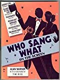Who Sang What on the Screen (0207148694) by Warner, Alan