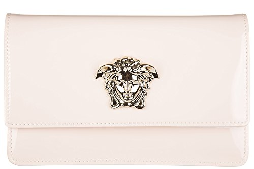 Versace borsa donna a spalla shopping in pelle nuova rosa