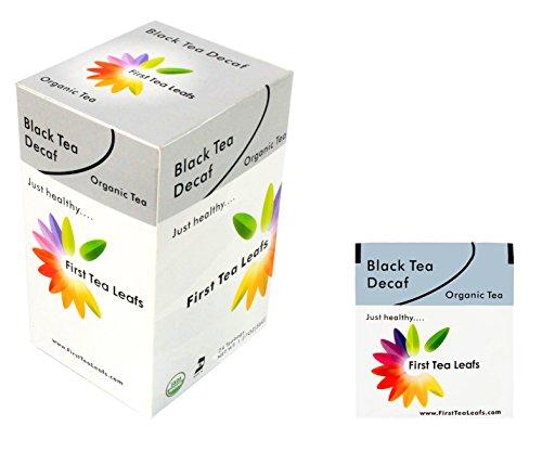 First Tea Leafs B-Line: Black Tea Decaf, Organic & Kosher Tea (24 Tea Bags Per Box)