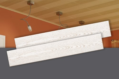 decosa deckenpaneele stockholm esche wei 100 x 16 5 cm sonderpreis 10 pack 20 qm. Black Bedroom Furniture Sets. Home Design Ideas