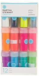 Martha Stewart Crafts Neon Glitter, 12-Pack