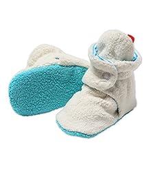 Zutano Newborn Unisex - Baby Fleece Bootie - Baby Fleece Bootie - CREAM/POOL 18M