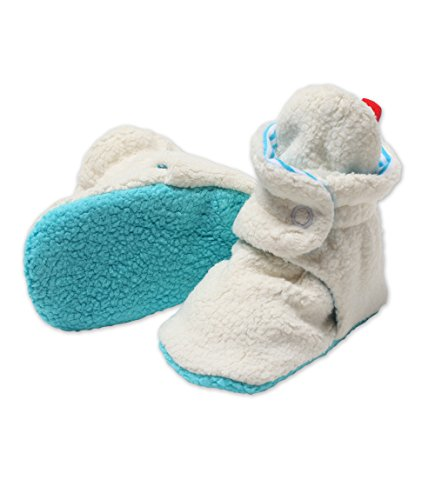 Zutano Newborn Unisex - Baby Fleece Bootie - Baby Fleece Bootie - CREAM/POOL 6M