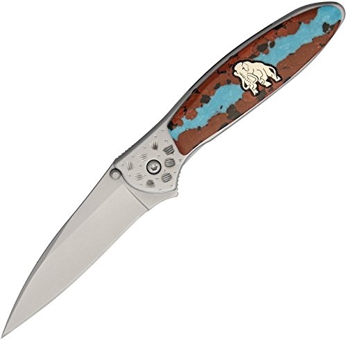 Yellowhorse YH203 Custom Kershaw Leek Mammoth Folding Knife