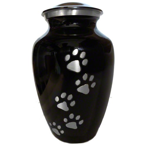 Ebony Classic Series (Vertical Pewter Paws, Medium)