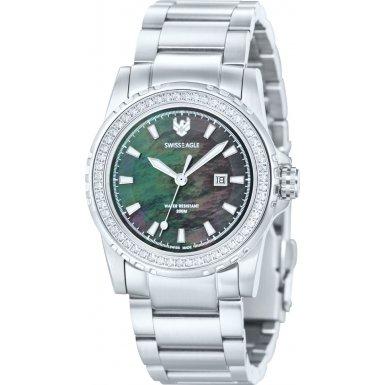 Swiss Eagle SE-6010-11 Ladies Fleet Silver Steel Bracelet Watch