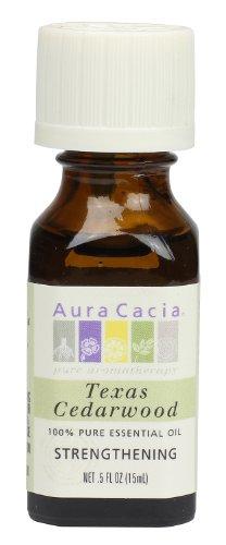 Aura Cacia Essential Oil, Strengthening Texas Cedarwood, 0.5 fluid ounce