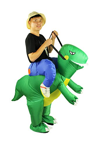Adult Inflatable Fancy Dress Costume Dinosaur Cosplay Outfit Jumpsuit For Halloween Party