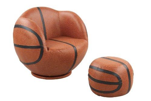 New PU Leather Basketball Chair Sofa and Ottoman Set