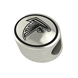 Atlanta Falcons NFL Antiqued Bead Fits Most Pandora Style Charm Bracelets