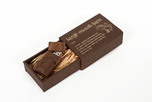Walnut Wooden 16GB Flash Drive - Inserted In A Laser Engraved Paper Box With Raffia Grass Inside - Laser Engraved...