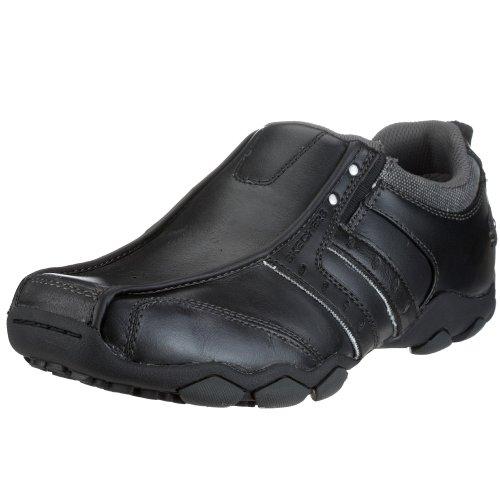 Skechers Men's Diameter Casual Slip On,Black,10.5 M